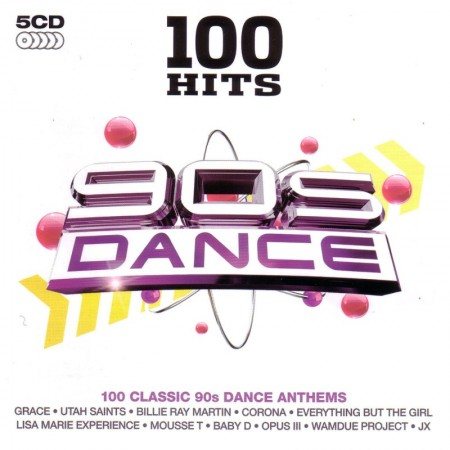 100 Hits 90s Dance (5 CD, 2010)