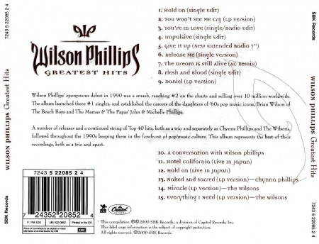 Wilson Phillips - Greatest Hits (2000)