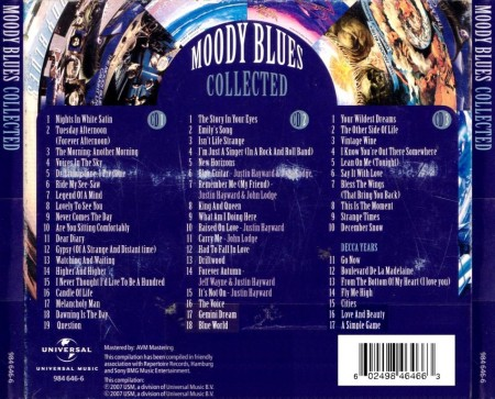 Moody Blues - Collected (3 CD, 2007)