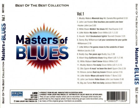 Masters of Blues. Best Of The Best Collection (2 CD, 2009)
