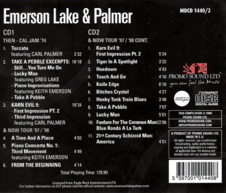 Emerson, Lake & Palmer - Greatest Hits (2 CD)