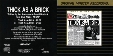Jethro Tull - Thick As A Brick (1972) FLAC