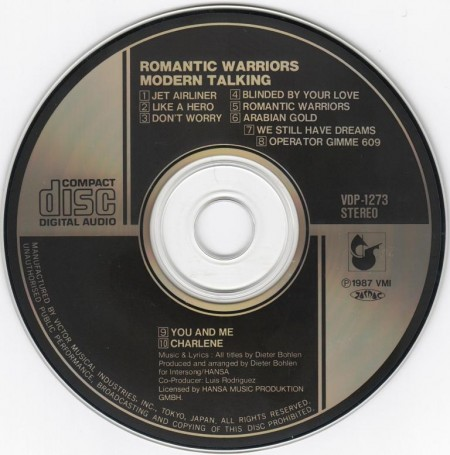 Modern Talking - Romantic Warriors [Japanese Edition] (1987) FLAC