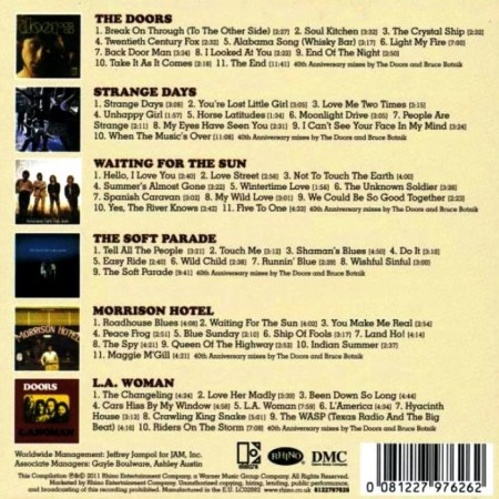 The Doors A Collection 40th Anniversary Mixes 6 Cd