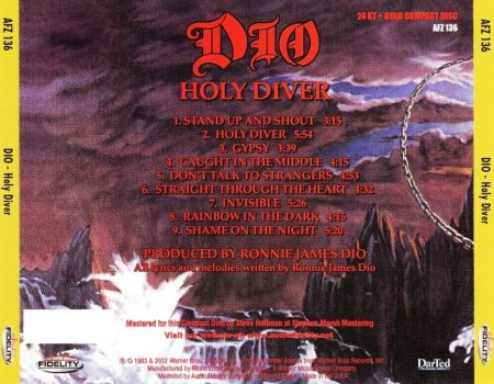 Dio - Holy Diver (1983/2012 Remastered) FLAC