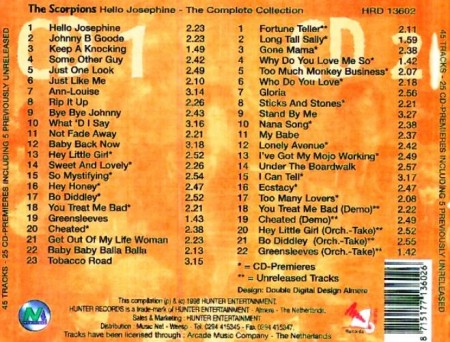 The Scorpions - Hello Josephine - The Complete Collection (2 CD, 1998)